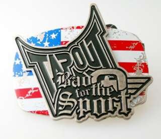 ORIGINAL TAPOUT LOGO WITH AMERICAN FLAG BELT BUCKLE!