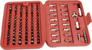 100 pc Security Bit Set Tamper Proof Screwdriver Torx Star Hex Tri