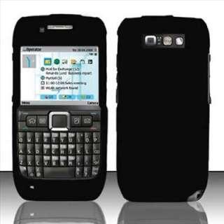 Black Rubberized Hard Case Cover for Straight Talk Nokia E71