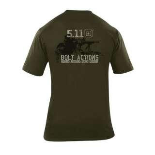 11 Tactical 40088B Short Sleeve Shirt Logo T Shirt Bolt Action