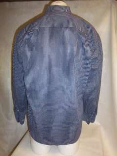 Mens MISSONI Plaid Cotton Blue Dress Shirt Sz 40 MEDIUM