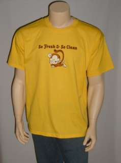 So Fresh & So Clean   Monkey   Funny Yellow T Shirt