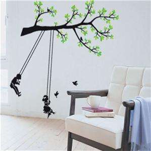 LARGE TREE SWING   Removable Wall Stickers Decals Kids