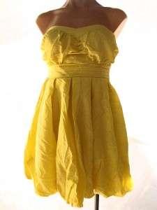 STEVE MADDEN Dress Yellow Strapless Bubble New Nwt Sz 1