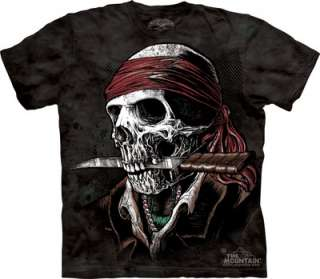 New Skeleton Skull Pirate 100% Cotton Tee Shirt T Shirt Biker Harley