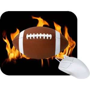 Rikki Knight Flaming Football Mouse Pad Mousepad   Ideal