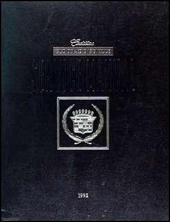 1992 Cadillac Eldorado STS Seville Repair Shop Manual