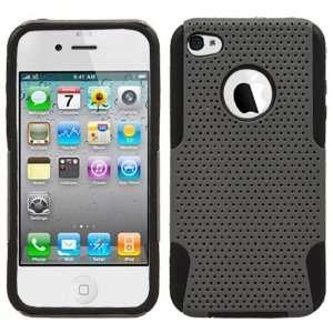 Grey Black 2 in 1 Hybrid Case Silicone + Hard Plastic for