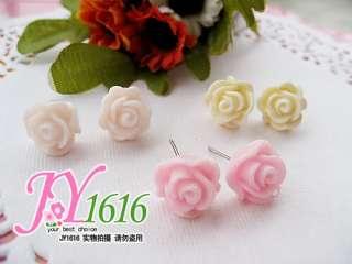Super Cute Lovely Rose Stud New Earrings