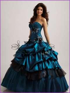 Quinceanera Wedding dress Bridal Bridesmaid Gown/Prom Evening dresses