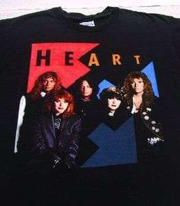 HEART brigade 1990 tour XL concert T SHIRT vintage vtg