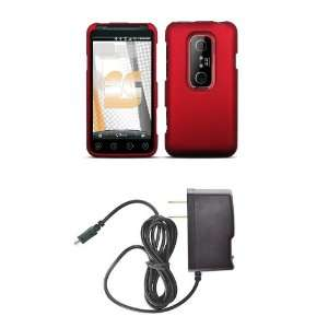 HTC EVO 3D (Sprint) Premium Combo Pack   Red Rubberized
