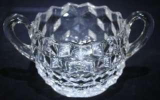 Fostoria American Glass Sugar Bowl Two Handled NICE
