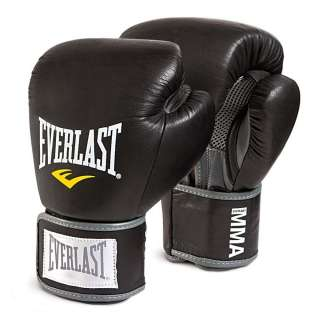 Boxing Gloves Everlast Leather Pro Muay Thai Style Sparring Training