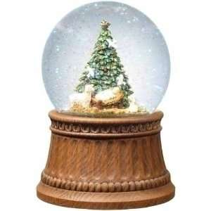 New   Pack of 2 Musical Christmas Tree with Lamb & Baby Jesus Snow