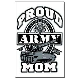Mini Poster Print Proud Army Mom Tank