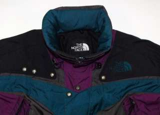 NORTH FACE Black Gray Teal & Purple Gore Tex Ski Hiking Snowboard