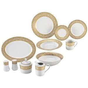 Nikita 47pc Fine Porcelain China Set With Gold Tone Trim