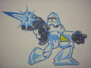 14.5 LARGE STAR WARS STORMTROOPER FABRIC APPLIQUE CHARACTER IRON ON