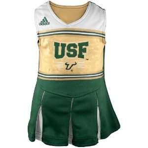 Green Cheerleader Dress & Bloomers Set