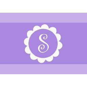 Boutique Style Vinyl Wall Decal Sticker Custom Monogram in Flower