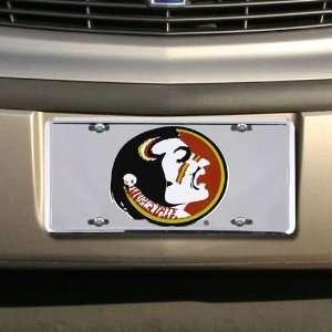 State Seminoles (FSU) Silver Osceola Head License Plate Automotive