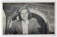 PENNSYLVANIA CENTRAL AIRLINES Stewardess at Door ca1940