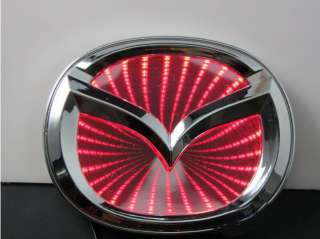 3D LED Car Decal Logo Light Badge Lamp Emblem Sticker for Red Mazda 6