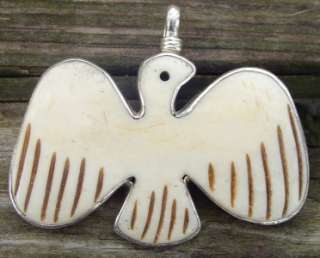 COREEN CORDOVA STERLING SILVER DOVE/BIRD ENHANCER PENDANT