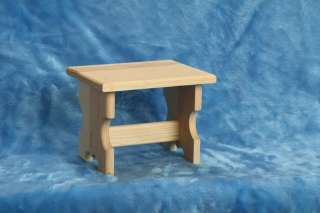 Handcrafted Childrens Step Stool/Foot Stool Pine Wood