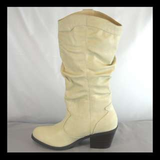 NEW CAMEL ROUND TOE WOMENS COWBOY BOOTS SIZE 6