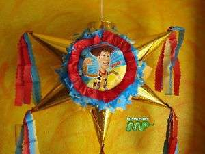 Pinata Woody Toy Story Party Holds Candy Star Shaped