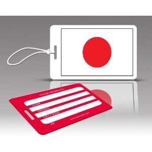 TagCrazy Luggage Tags  Japan Flag  Set of Three