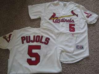 St. Louis Cardinals Pujols Jersey Sewn White