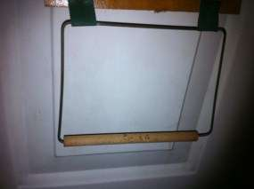 Vintage Wood Japan Pay as you Go Toilet Paper Holder Dispenser Wall