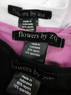 LOT 3 FLOWERS BY ZOE GIRLS Short Sleeve Shirts Sz L