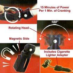 New Rechargeable LED Spotlights,Hand Crank Flashlight