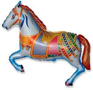 Carousel Horse Balloon 26 Foil Balloon Farmyard Party