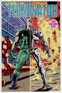 terminator 1 movie tv publisher dark horse comics art by featuring