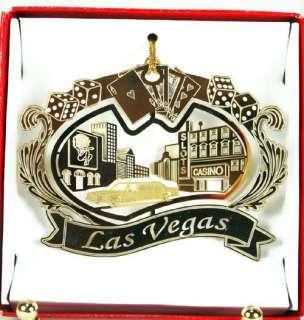 Las Vegas Strip Christmas Ornament Casinos Limo Cards