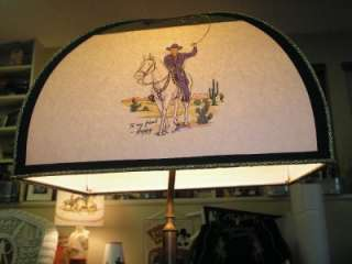Hopalong Cassidy Lamp SHADE and Base Western TV cap gun