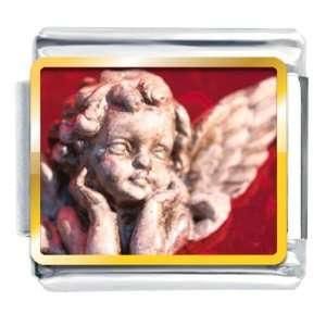 Buddhist Bracelet Gazing Cherub Angel Italian Charms Pugster Jewelry