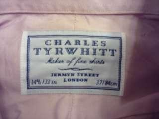 Charles Tyrwhitt long sleeve button front dress shirt size 14 1/2 33