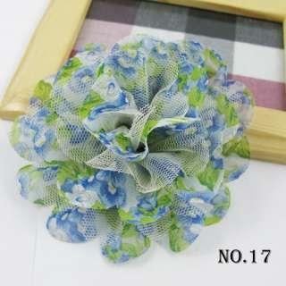 6color/lot Chiffon Hair Flower clips bow fascinator D