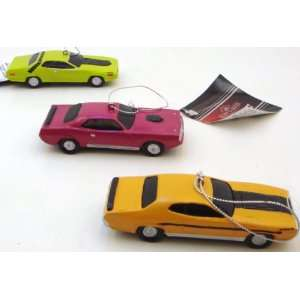 Chrysler Plymouth CAR ORNAMENT, SET OF 3 ASSORTED   Christmas Ornament