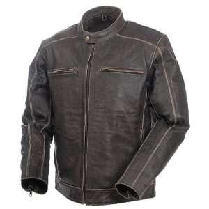 Mossi Mens Nomad Premium Leather Jacket 40 Distressed