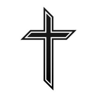 Vinyl Decal Sticker Cross christian symbol ZK624