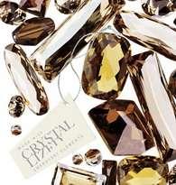 Gold GP w/ Swarovski Crystal Wedding Engagement Ring _ 6 R143