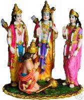 RAM DARBAR Sita Hanuman India Hindu STATUE Murti RAMD