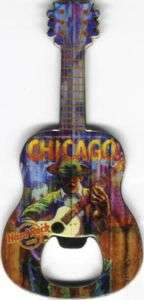 Hard Rock Cafe CHICAGO Guitar MAGNET Bottle Opener NEW